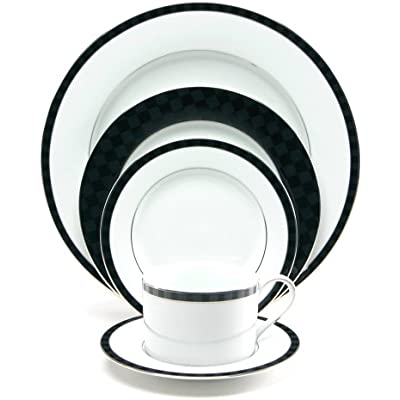 Click for Nikko Ceramics Black Tie 5-Piece Place Setting, Service for 1
