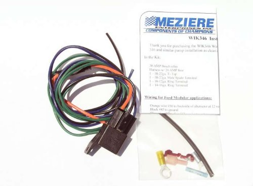 Water Pump Relay - Meziere WIK346 Water Pump Relay Kit 30 Amp With Wiring Harness