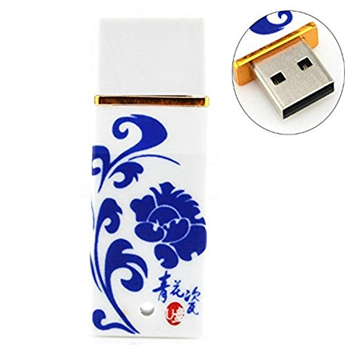 WooTeck Blue and White Porcelain 16GB High Speed USB Flash Drive