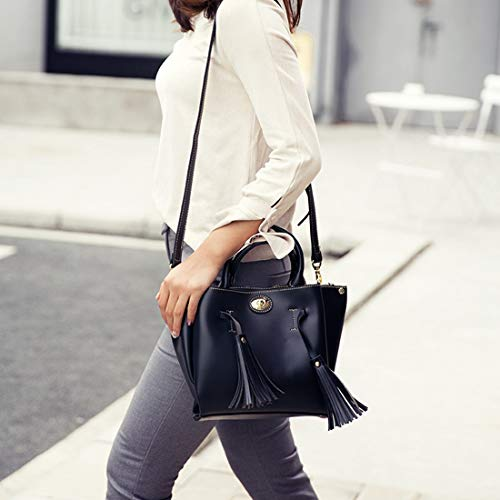Shoulder Femenina Pu Capacity Casual Large Black Tassel Slung Hand Honneury Bolsa color Summer awYq8vdt