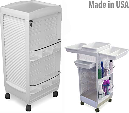 C180E Prime Medical Dental Physician White Lockable Roll-About Utility Cart Made in USA