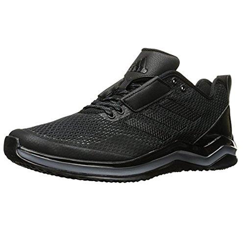 adidas Performance Men's Speed 3.0 Cross-Trainer Shoe, Black/Black/Iron Metallic, 11 M US