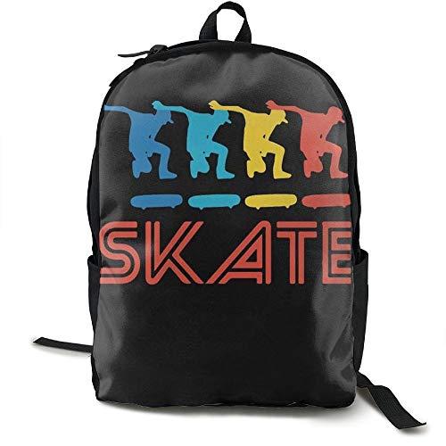Skater Retro Pop Art Skateboarding Graphic Skate Unique Print Custom Unique Casual Backpack School Bag Travel Daypack Gift - Custom Skate