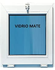 (V07M) Ventana Pvc Baño 500x600 Golpete Abatible Climalit Mate