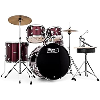 Amazon Com Mapex Vr5254tdrzz Voyager Standard 5 Piece Drum Set With