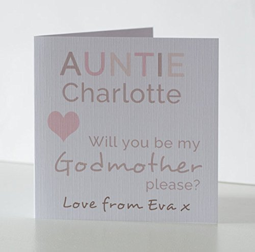 Will you be my Godmother Card Will you be my Godfather card