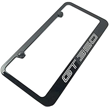 2X 3D SHELBY Emblem GT 350 Mustang Stainless Steel License Plate Frame