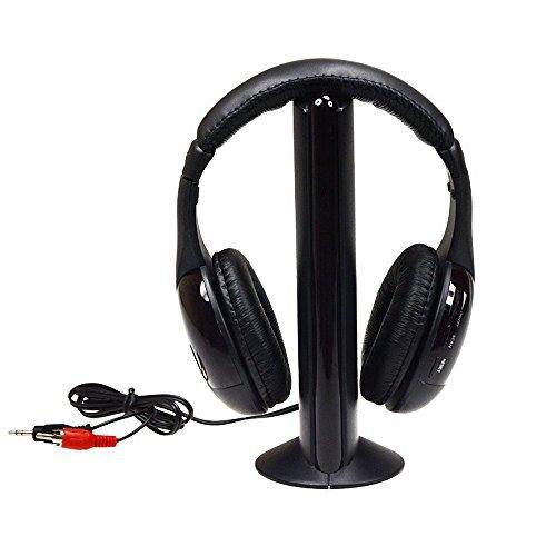 Black Wireless Headphone Earphone Radio