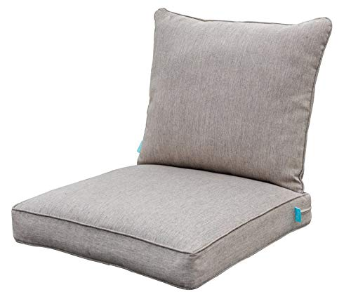 QILLOWAY Outdoor Chair Cushion Set,Outdoor Cushions for Patio Furniture.Grey