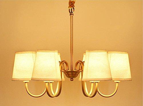 Sdkky tessuto americano lampadari di rame testa 6 decorazioni di
