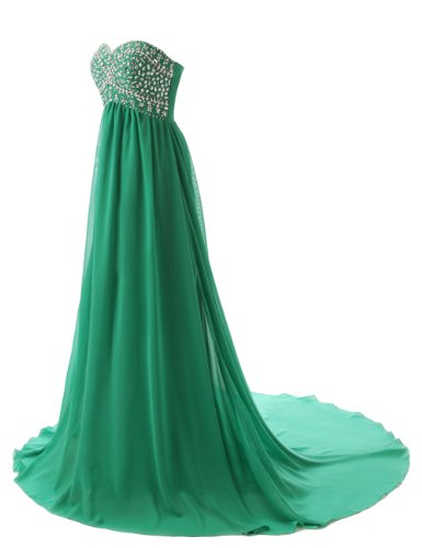 Dressystar Strapless Sweetheart Bridesmaid Prom Dresses Chiffon Evening Gowns Size 4 Mint