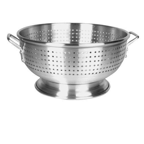 (Thunder Group ALHDCO002, 12 Quart Heavy Duty Aluminum Colander, Commercial Pasta Strainer)