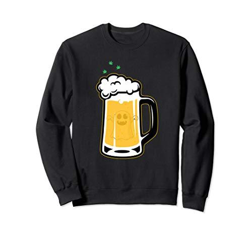 Halloween Drinking Squad Ghost Beer Mug - Halloween Souvenir Sweatshirt -