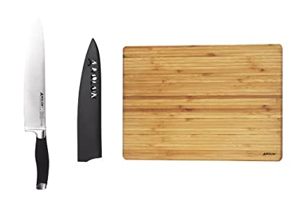 Anolon Kitchen Knives | Amazon Com Anolon 3 Piece Chef S Cutlery Set 52624 Chefs Knives