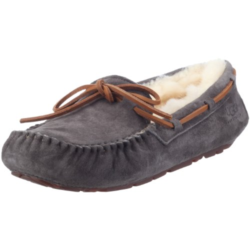 UGG Women's Dakota Moccasin, PEWTER, 9 B US (Womans Ugg Slippers Size 9)