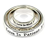 Scarf Rings 4030295 3 Piece Set Christian Scripture Religious Jewelry 1 Corint.