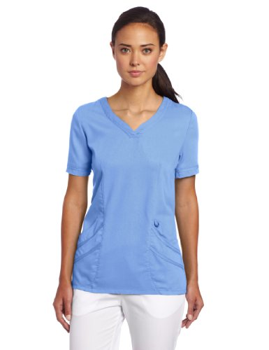 Urbane Women's Chloe Sweetheart Neck Scrub Tunic, Ceil, 3X-Large