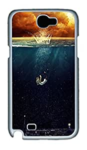 Drawnig Scene Polycarbonate Hard Case Cover for Samsung Galaxy Note II N7100 White by mcsharksby Maris's Diary