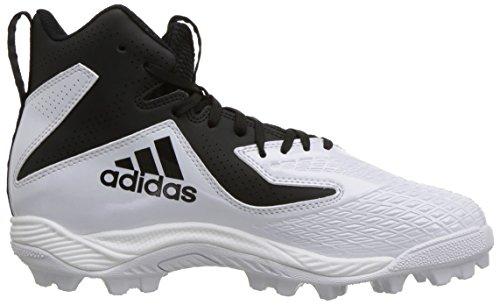 adidas Unisex Freak Mid MD Wide J Football Shoe, FTWR White, core Black, 4 M US Big Kid by adidas (Image #7)