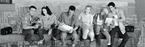 Friends Over New York TV Television Show Poster Print
