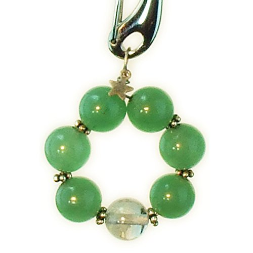 - Dog Collar Charm, Green Aventurine Titanium Tough
