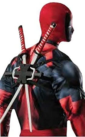 Fancy Me Hombre niño Marvel Oficial Deadpool Doble Ninja Espada ...