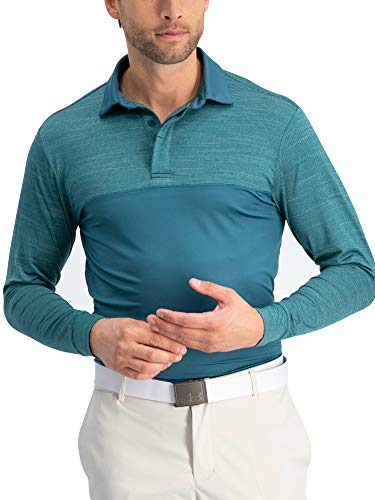 - Three Sixty Six Long Sleeve Polo Shirts for Men - Men's Long Sleeve Golf Polos - Dry Fit Fabric
