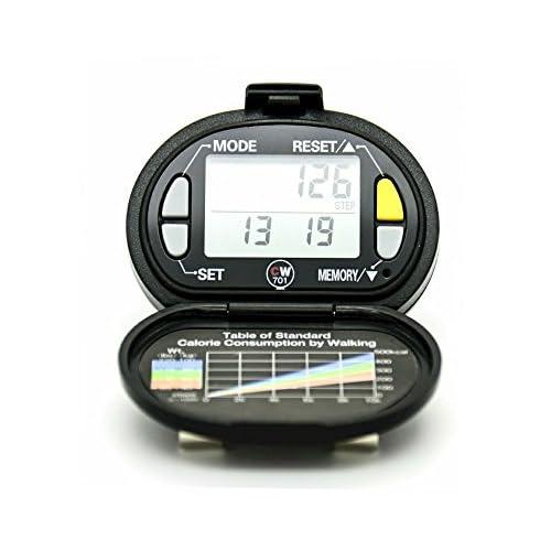 Polygon Direct Pedometers | Yamax Cw700Digi-Walker | métrique Version (Kilomètres) | précise Step Counter | Sangle de sécurité inclus