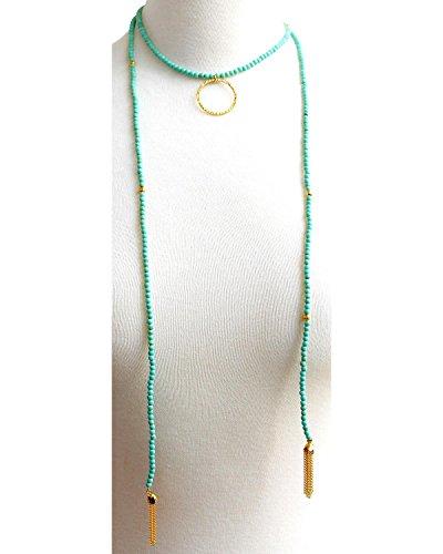 Everlasting Joy Women's Santa Fe Lariat In Turquoise Turquoise One Size (Santa Fe Turquoise Necklace)