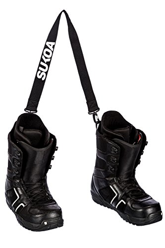 Skate Womens Ski Boots (Sukoa Ski and Snowboard Boot Carrier Strap - Men & Women - Shoulder Sling Tote Leash Also for Ice Skates & Rollerblades - Equipment Accessories for Bag, Kit and Gear Pack)