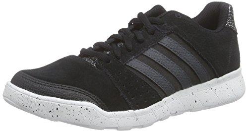 adidas Essential Fun, Chaussures de Course Femme Noir - Schwarz (Black/Dark Grey/Ftwr White)