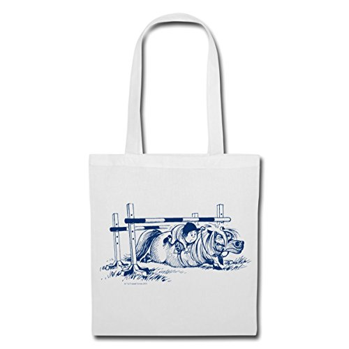 Cheval Thellwell Bag Blanc Tote D'Obstacles Spreadshirt Déteste Saut q5vxw0WYd