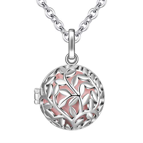 """EUDORA Harmony Ball Tree Life Angel Bell Necklace Pregnancy, Mexican Bola Pendant Women Jewellery Pendant Long Necklace Women Best Gift, 30"""""""