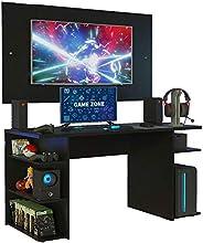 Mesa Gamer Madesa 9409 e Painel para Tv até 58 Polegadas - Preto