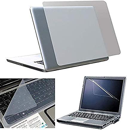 Fedus 3in1 Laptop Accessories Combo Transparent Laptop Skin Keyboard Skin, Screen Guard, for 15.6 inch Laptop