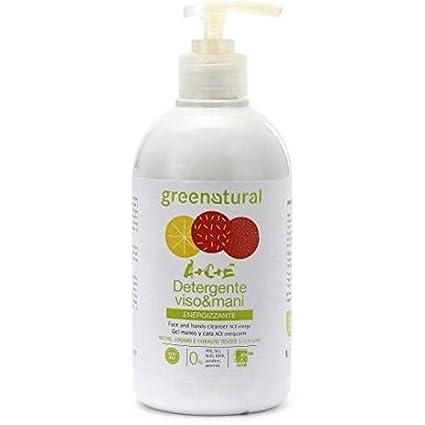 GREENATURAL - Jabón ACE Multivitamínico Facial y para las Manos - Con aceites esenciales de cítricos