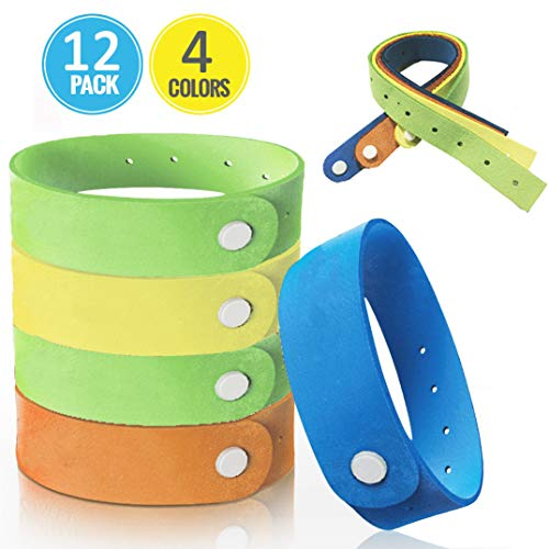 Mosquito Repellent Bracelet, Super-Soft Safe Fiber Material for Kids & Adults & Pets, Non-Toxic No-Spray Travel Insect Repellent Wristband, Keep Insects & Bugs Away Indoor Outdoor (Blue)