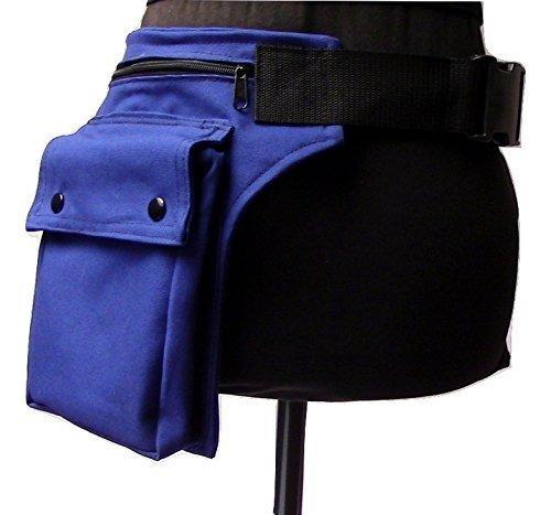 Blaue Canvas Hüfttasche verschließbar mit einer Steckschnalle