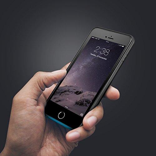 iPhone 7Coque batterie Solememo Smart Étui de chargement Coque batterie externe chargeur portable pour iPhone 711,9cm avec 2500mAh iPhone 7 5.5'' noir