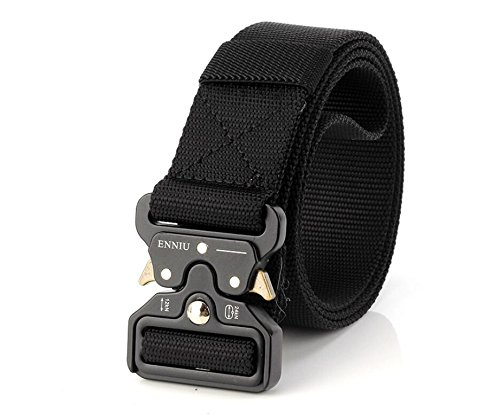 Buy Motusamare Tactical Belt Heavy Duty Military Style Webbing Riggers Web Belt with 1.5 Metal Buck...