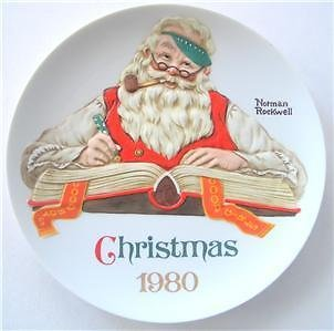 Norman Rockwell Christmas 1980 Ltd. Ed Plate Japan