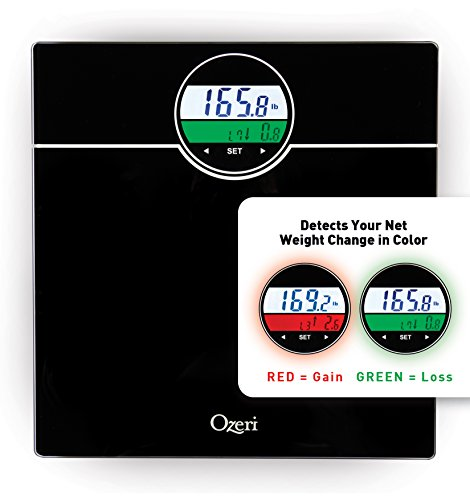 Ozeri ZB21 WeightMaster 400 lbs Digital Bath Scale with BMI and Weight Change Detection