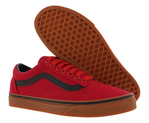 Top Skool Low Red Vans and Black Adults' Old Trainers Unisex HacWWwXApq