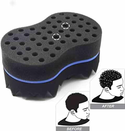 RioRand Magic Twist Hair Brush Curl Sponge Tornado Locking Afro Curling Coil Comb Hair Care Tool(10mm Hole)