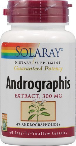 Solaray Andrographis Supplement, 300mg, 60 Count by Solaray
