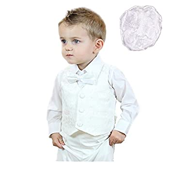 Amazon.com: 100% Cotton Baby Boys Christening Outfit with ...