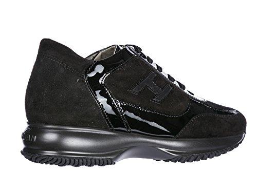 Hogan Donna Sneakers Donna Scarpe Scamosciate Sneakers Interattive H Flock