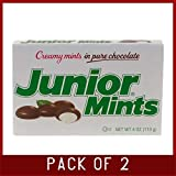 Junior Mints Creamy Mints in Pure Chocolate - 12 boxes, 4 oz each (Pack of 2)
