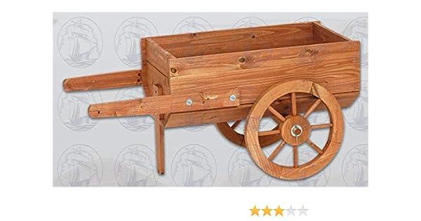 Macetero typo carretilla de madera 83 x 42 x 38 cm: Amazon.es: Jardín