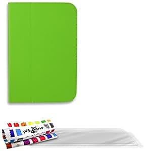 """Funda Folio con solapa GOOGLE NEXUS 10 [""""Le Folio"""" Premium] [Verde] de MUZZANO + 3 Pelliculas de Pantalla """"UltraClear"""" + ESTILETE y PAÑO MUZZANO REGALADOS - La Protección Antigolpes ULTIMA, ELEGANTE Y DURADERA para su GOOGLE NEXUS 10"""